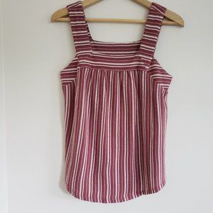 NWT LUCKY BRAND Maroon Striped Square Neck Tank